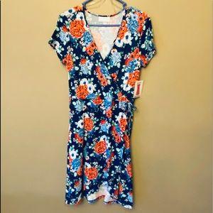Bobbie Brooks faux wrap floral dress